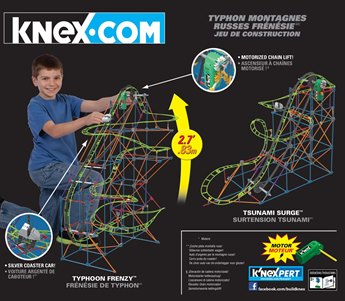 Typhoon Frenzy Roller Coaster Building Set