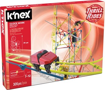 K'nex Thrill Rides Clock Work Roller Coaster Building Set