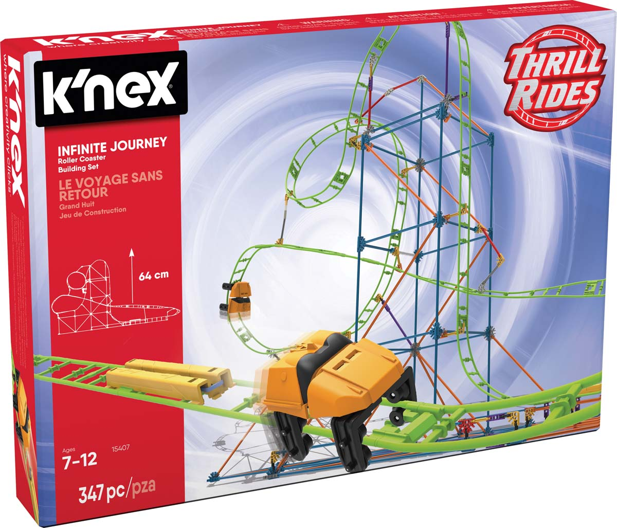 K Nex Thrill Rides Infinite Journey Roller Coaster Building Set Knex Co Uk Where Creativity Clicks