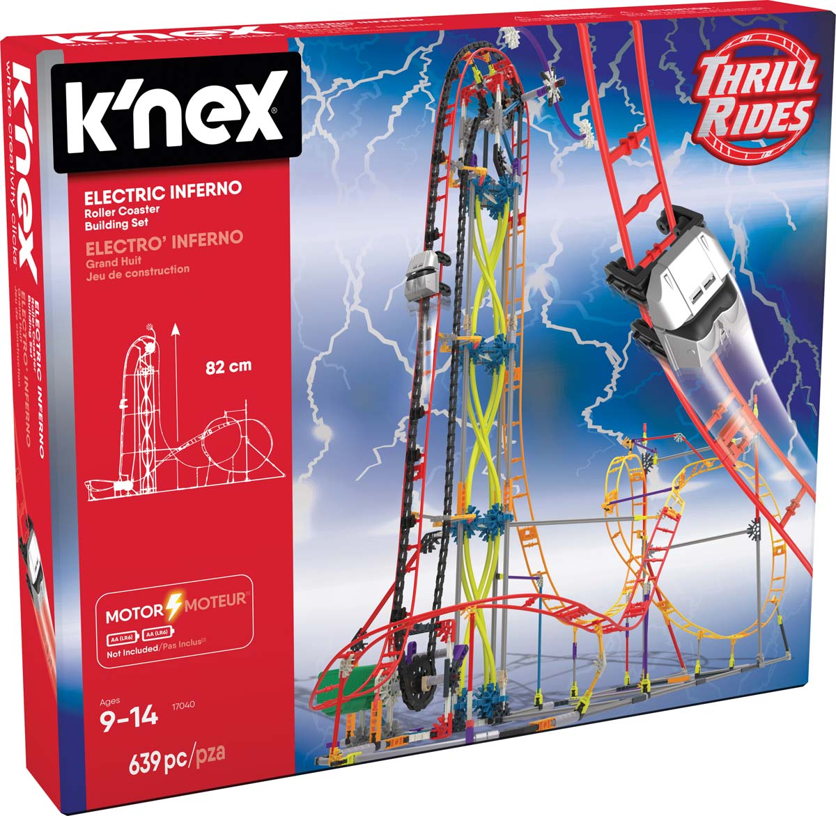 K Nex Thrill Rides Electric Inferno Roller Coaster Building Set Knex Co Uk Where Creativity Clicks