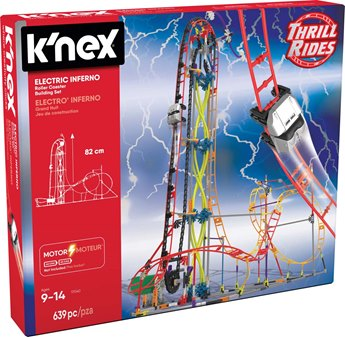 K'nex Thrill Rides Electric Inferno Roller Coaster Building Set