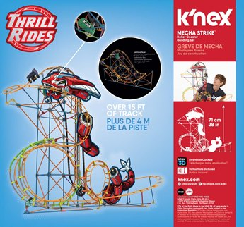 K'nex Thrill Rides Mecha Strike Roller Coaster Building Set