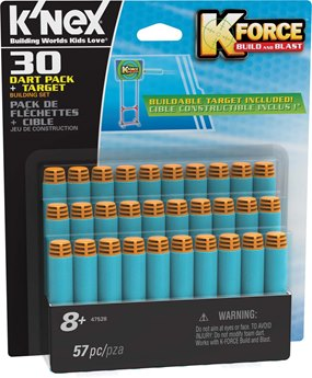 K'nex K-Force 30-Dart Pack And Target