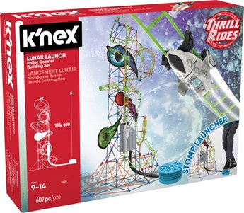 K'nex Thrill Rides Lunar Launch Roller Coaster Building Set