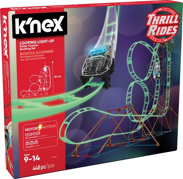 K Nex Thrill Rides Looping Light Up Roller Coaster Building Set Knex Co Uk Where Creativity Clicks